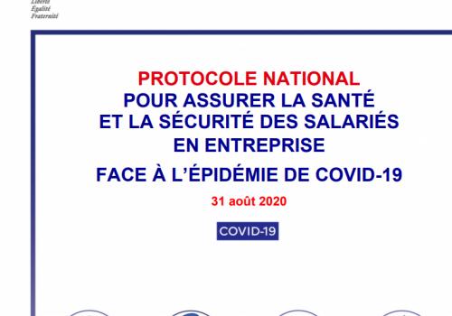 Protocole santé sécurité en entreprise face au Covid 19 du 31 août 2020
