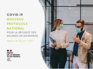 Covid-19 : nouveau protocole national pour la sécurité des salariés en entreprise depuis le 30 juin