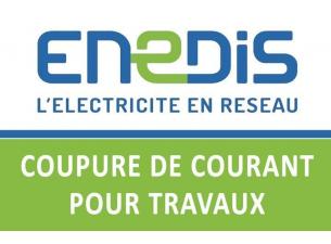 Communication ENEDIS - Coupure de courant pour travaux